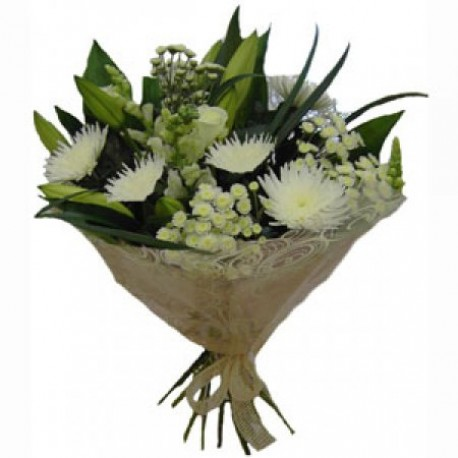 Wonderful White Mixed Bouquet