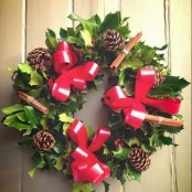 DECEMBER ONLY In Loving Memory Holly Wreath